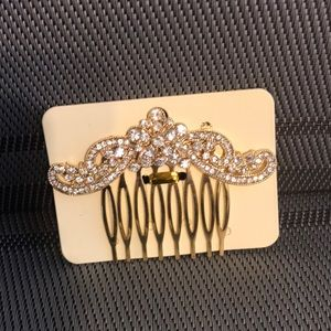 NWT Multi-Stones Mustache Hair Side Comb